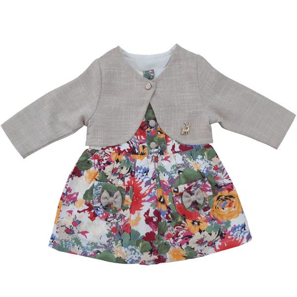نمایش تصویر ست کت و پیراهن نوزادی مدل بهار