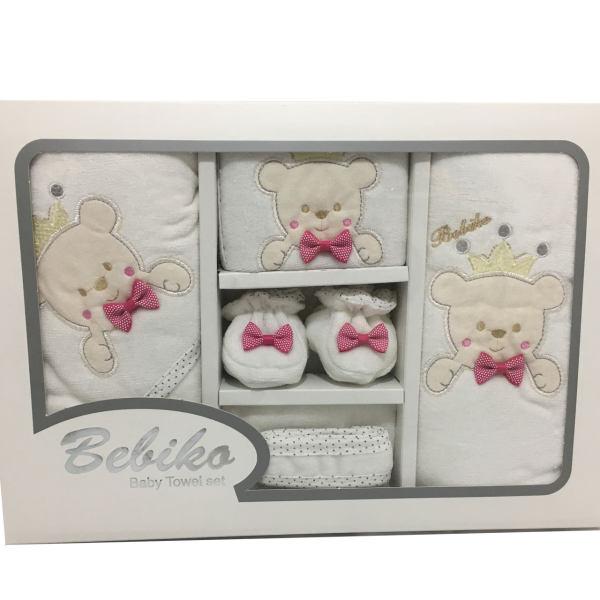نمایش تصویر ست 5 تکه حوله نوزادی بلیکا طرح خرس هدیه به نوزاد