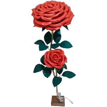 نمایش تصویر آباژور طرح گل رز کد 115 کادو ولنتاین گل بچین
