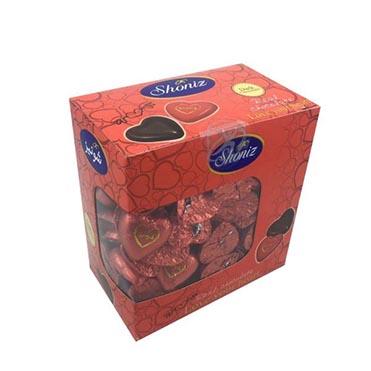 نمایش تصویر شکلات تلخ قلبی 78 درصد شونیز - 1 کیلوگرم کادو ولنتاین گل بچین