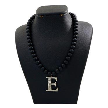 نمایش تصویر گردنبند نقره زنانه دلی جم طرح حرف E کادو ولنتاین گل بچین