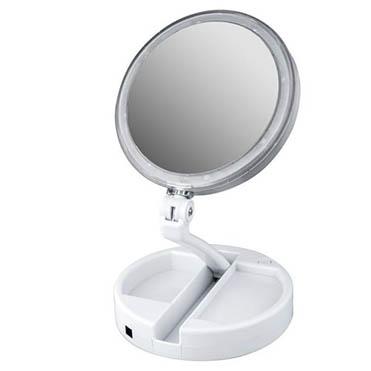 نمایش تصویر آینه-آرایشی-Foldaway-مدل-چراغ-دار-با-قابلیت-بزرگنمایی هدیه روز مادر گل بچین