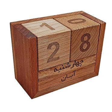 نمایش تصویر تقویم رومیزی مدل مکعب هدیه روز مهندس گل بچین