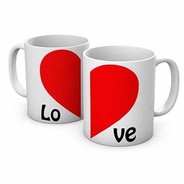 نمایش تصویر ماگ مدل قلب دو عددی ست هدیه دختر و پسر گل بچین