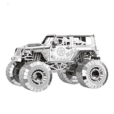 نمایش تصویر پازل فلزی سه بعدی - مدل BMK jeep بهمراه انبردست مخصوص هدیه روز مهندس گل بچین