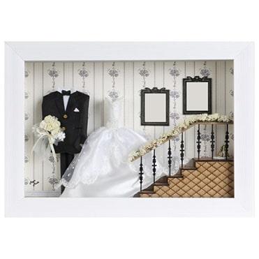 نمایش تصویر تابلو-دکوراتیو-رویامد-مدل-عروس هدیه سالگرد ازدواج گل بچین