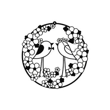 نمایش تصویر تابلو-مینیمال-رومادون-طرح-ازدواج-پرنده-ها هدیه سالگرد ازدواج گل بچین