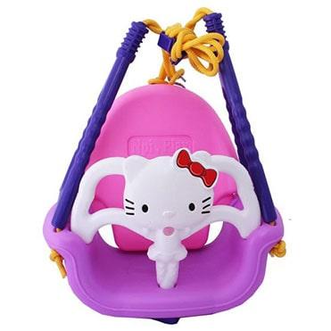 نمایش تصویر تاب موزیکال مدل کیتی هدیه کودکان یک تا سه ساله گل بچین