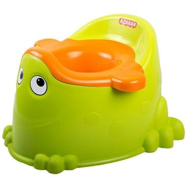 نمایش تصویر توالت فرنگی کودک آذران مدل قورباغه هدیه کودکان یک تا سه ساله گل بچین