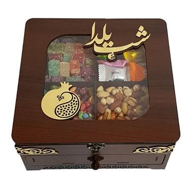 نمایش تصویر جعبه چای و پذیرایی مدل یلدا هدیه شب یلدا