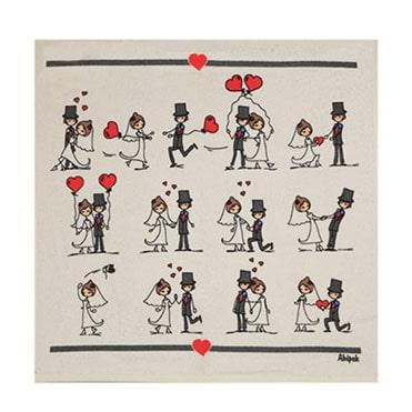 نمایش تصویر حوله-آشپزخانه-آکیپک-مدل-ازدواج هدیه سالگرد ازدواج گل بچین