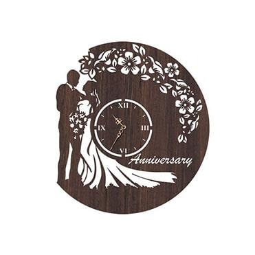 نمایش تصویر ساعت-دیواری-لاولی-طرح-سالگرد هدیه سالگرد ازدواج گل بچین