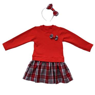 نمایش تصویر ست-پیراهن-و-تل-مو-دخترانه-مدل-یلدا-کد-200 هدیه شب یلدا برای خانم ها گل بچین