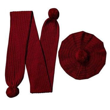 نمایش تصویر ست-کلاه-و-شال-گردن-بافتنی-مدل-M هدیه شب یلدا برای خانم ها گل بچین