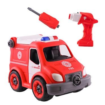 نمایش تصویر ماشین بازی طرح آتش نشانی هدیه کودکان یک تا سه ساله گل بچین