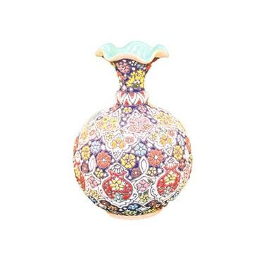 نمایش تصویر گلدان-سفالی-میناکاری-آبی-عمیق-مدل-شقایق کادو برای خانه جدید عروس و داماد گل بچین
