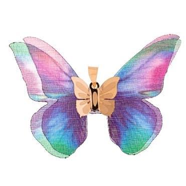 نمایش تصویر آویز گردنبند طلا 18 عیار زنانه گالری یارطلا مدل پروانه کد AP04 کادو تولد برای دختر 20 ساله گل بچین
