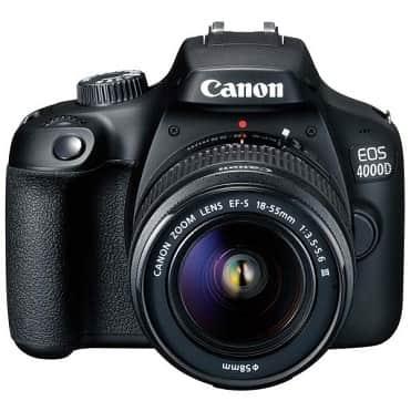نمایش تصویر دوربین دیجیتال کانن مدل EOS 4000D به همراه لنز 18-55 میلی متر DC III بهترین لوازم برای سفر جادهای گل بچین