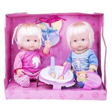 نمایش تصویر عروسک دوقلو وارم بی بی سایز متوسط کادو برای دوقلوها گل بچین
