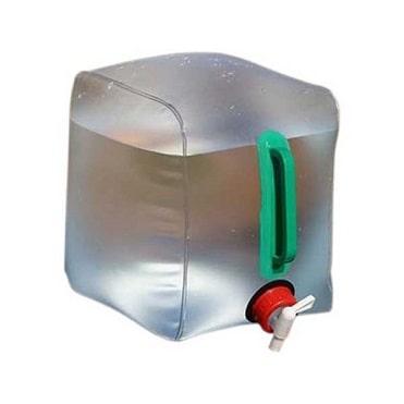 نمایش تصویر مخزن آب تاشو مدل 01 حجم 10 لیتر بهترین لوازم برای سفر جادهای گل بچین