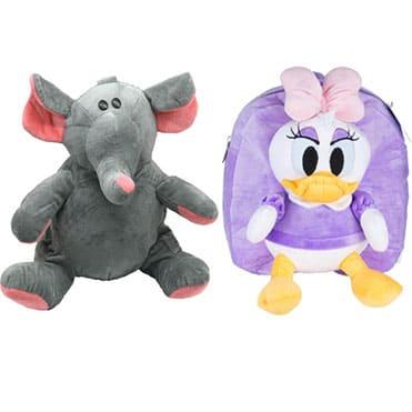 نمایش تصویر کوله پشتی کودک طرح فیل و دیزل داک بسته دو عددی کادو برای دوقلوها گل بچین