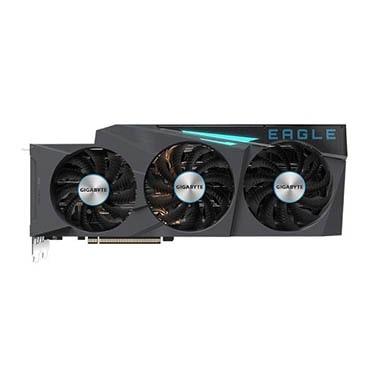 نمایش تصویر کارت گرافیک گیگابایت مدل GeForce RTX 3080 EAGLE OC 10G بهترین کارت گرافیک 1400 گل بچین