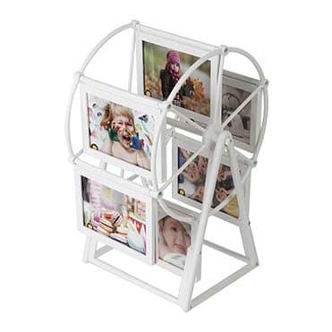 نمایش تصویر قاب عکس مدل چرخ و فلک سایز 10×15 سانتی متر کادو برای نوزاد پسر گل بچین
