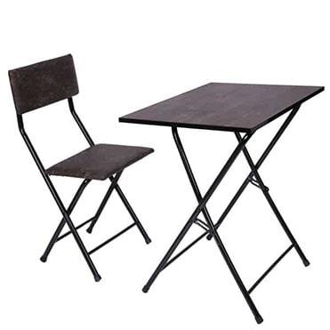نمایش تصویر میز و صندلی تحریر تاشو و تنظیم شو سپهر یاس قهوه ای مراقبت از چشم هنگام کار با کامپیوتر گل بچین