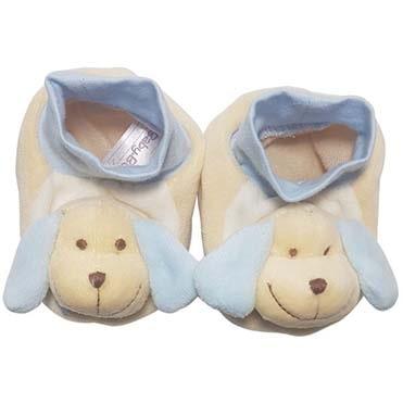 نمایش تصویر پاپوش نوزادی پسرانه بی بی بو طرح سگ مدل n145 کادو برای نوزاد پسر گل بچین