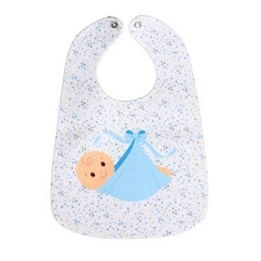 نمایش تصویر پیش بند نوزادی مدل پسرک کادو برای نوزاد پسر گل بچین