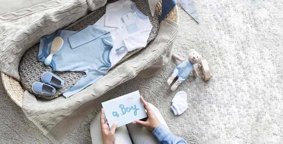 نمایش تصویر شاخص کادو برای نوزاد پسر گل بچین