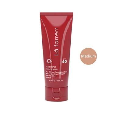 نمایش تصویر ضد آفتاب و ضد لک رنگی لافارر مدل Oily And Acne-Prone Medium حجم 40 بهترین کرم ضد آفتاب گل بچین