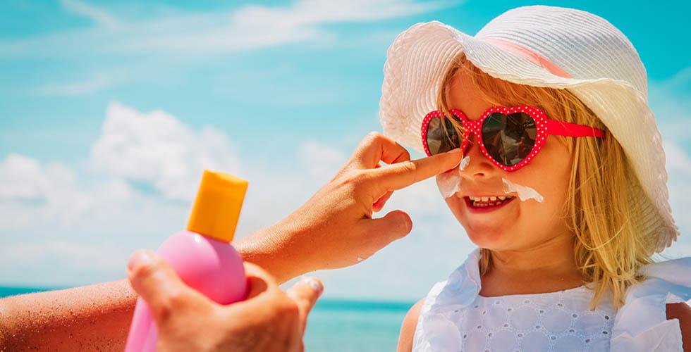نمایش تصویر شاخص کرم ضد آفتاب کودک گل بچین
