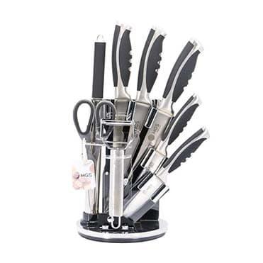 نمایش تصویر ست چاقو آشپزخانه 9 پارچه ام جی اس مدل 20-22 هدیه عروسی برای عروس و داماد گل بچین